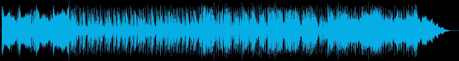 クールで緩やかなエレキサウンドの再生済みの波形