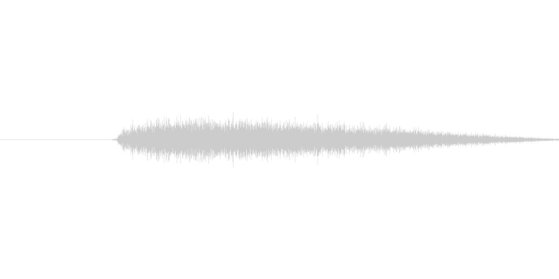 プシュ(蒸気の音)の未再生の波形