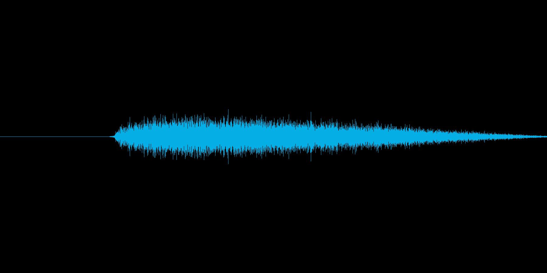 プシュ(蒸気の音)の再生済みの波形
