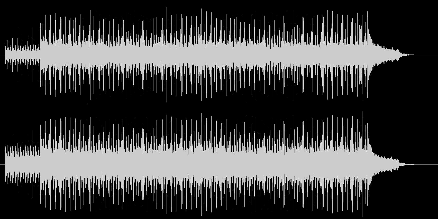 軽快で明るい雰囲気の曲の未再生の波形