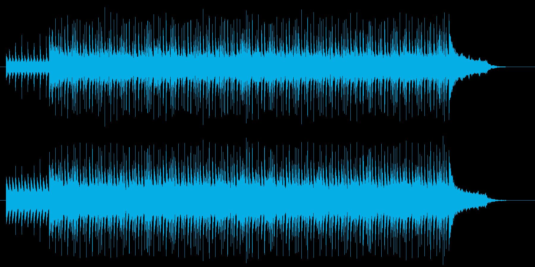 軽快で明るい雰囲気の曲の再生済みの波形