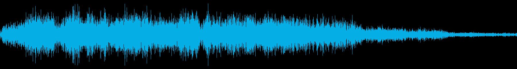 RPG:風魔法音「シュバババー」の再生済みの波形