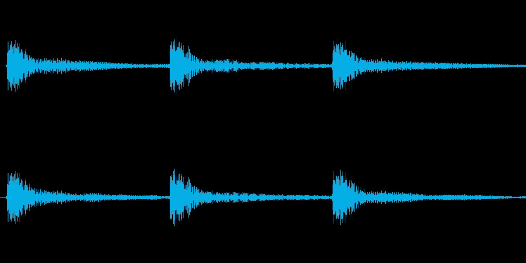 暖かく、少しオシャレな効果音です。「起…の再生済みの波形