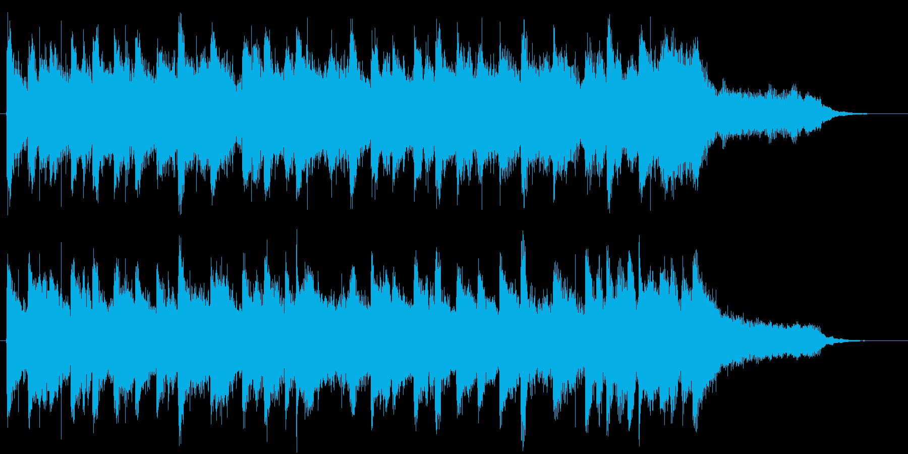 爽やかアップビートなロゴ・ジングルの再生済みの波形