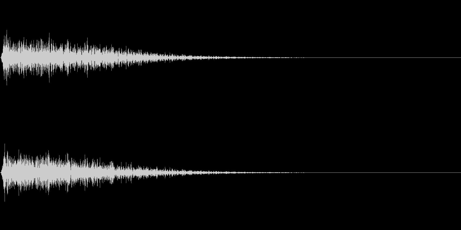 ガーン(ショック ピアノ 低音)の未再生の波形