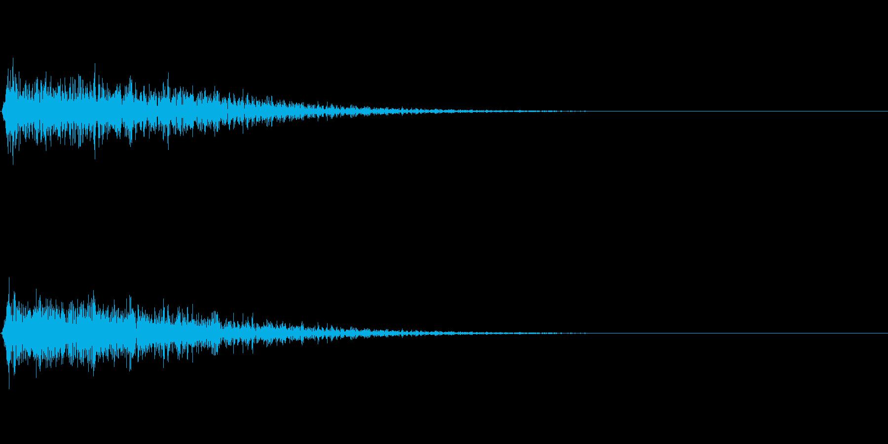 ガーン(ショック ピアノ 低音)の再生済みの波形