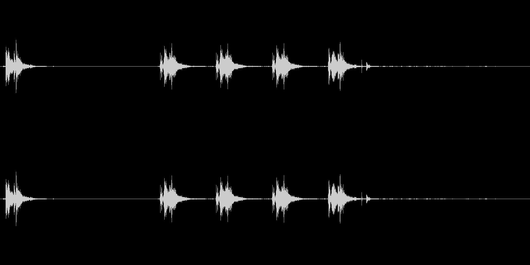 銃の音 (2)の未再生の波形