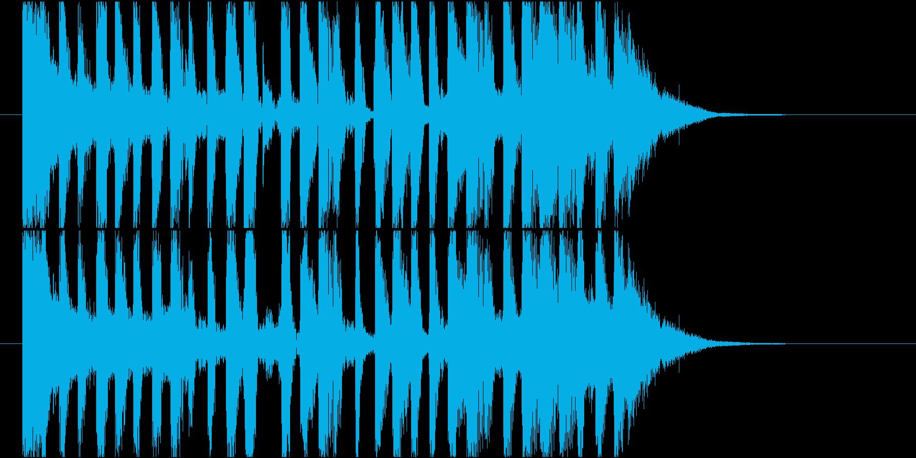 【ジングル】どっしり&ビッグビート調の曲の再生済みの波形