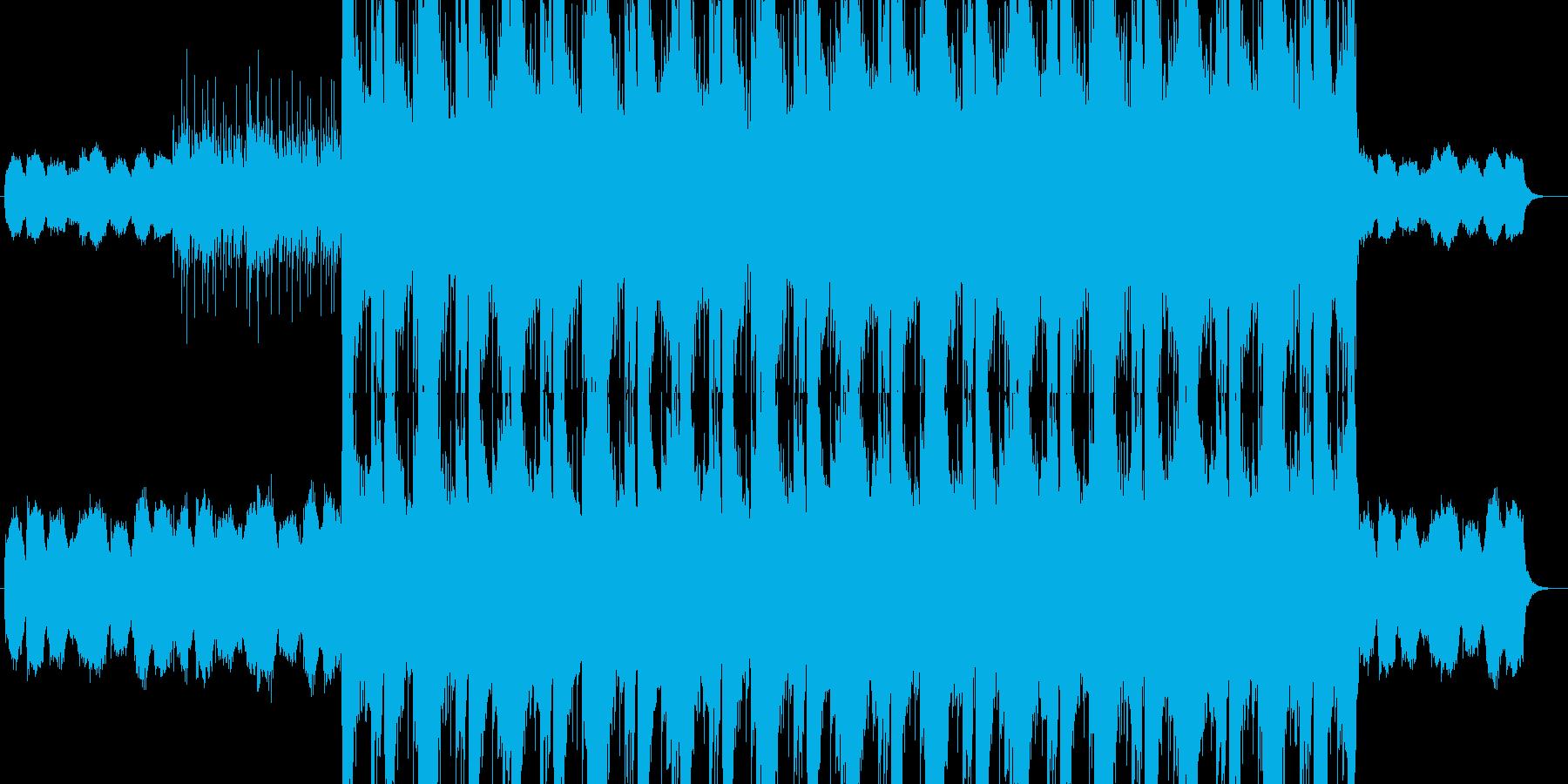 哀愁感が漂うロックバラードの再生済みの波形