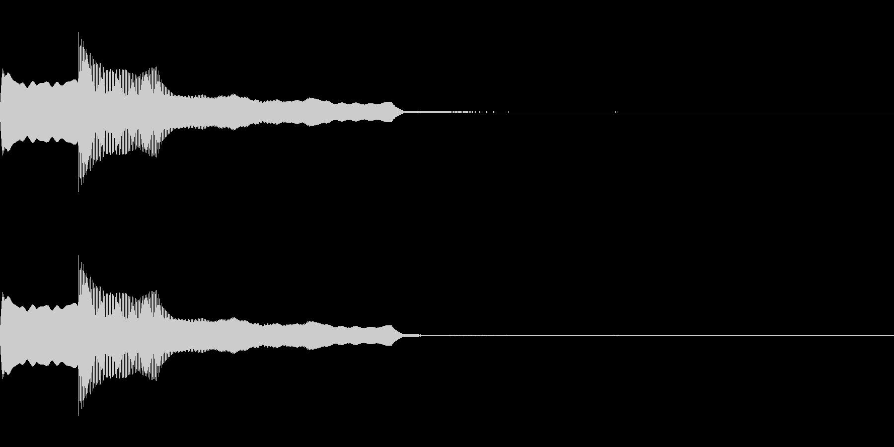 ピンポンの未再生の波形