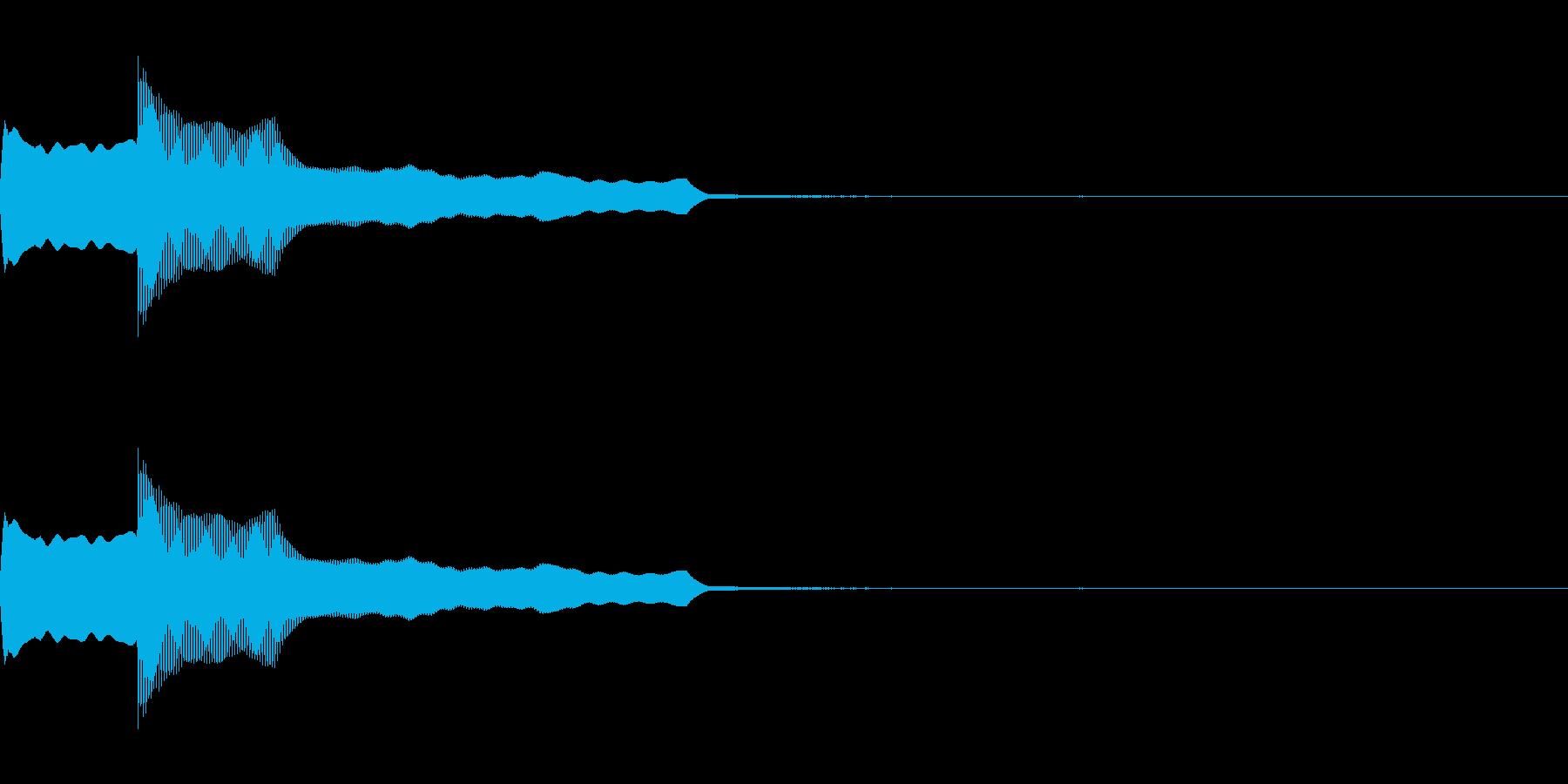 ピンポンの再生済みの波形