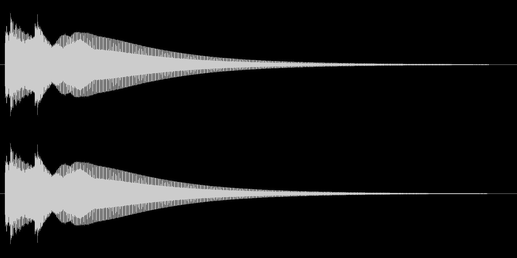 キラーン(綺麗で高音、鐘が鳴るような音)の未再生の波形