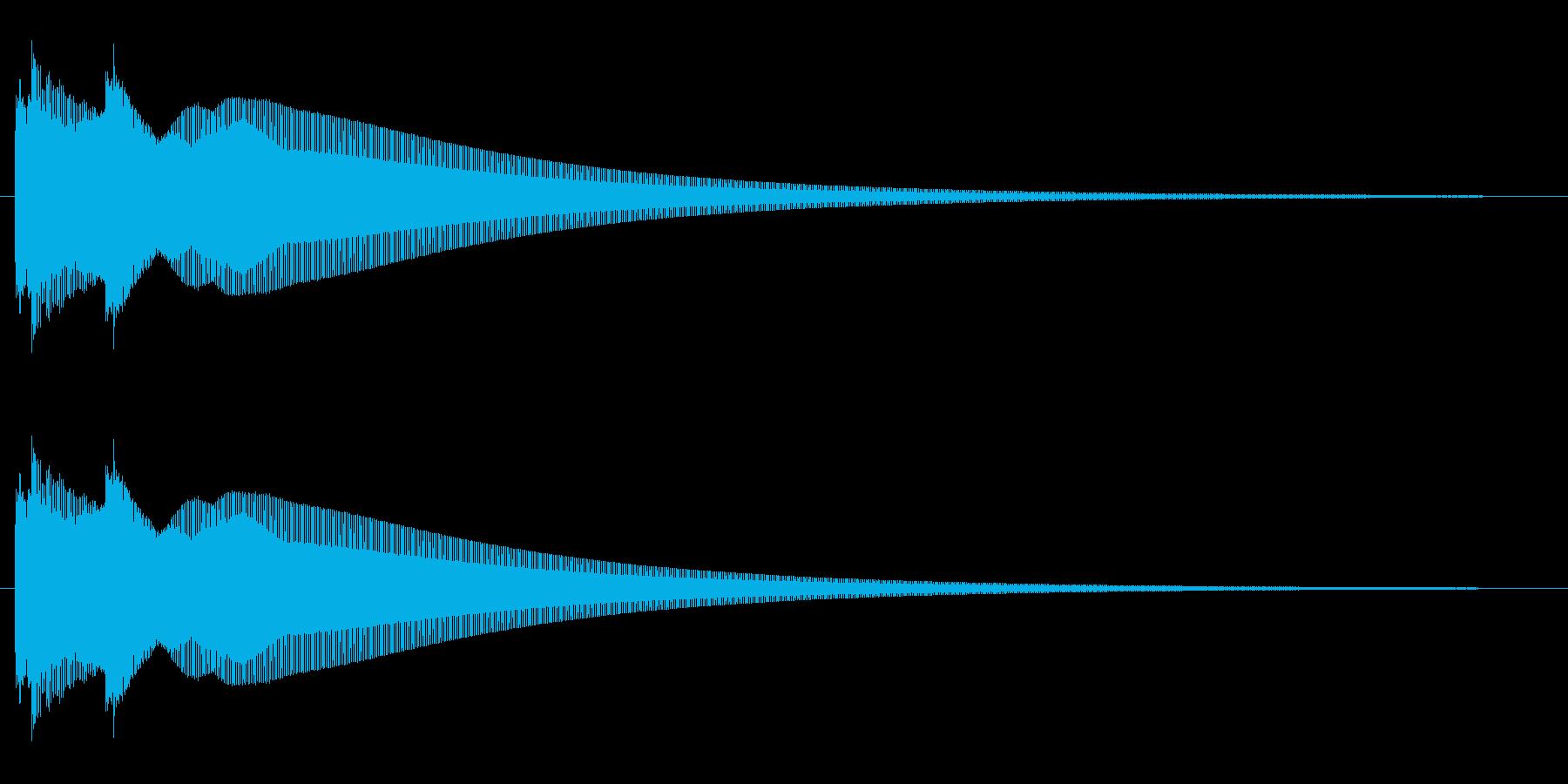 キラーン(綺麗で高音、鐘が鳴るような音)の再生済みの波形