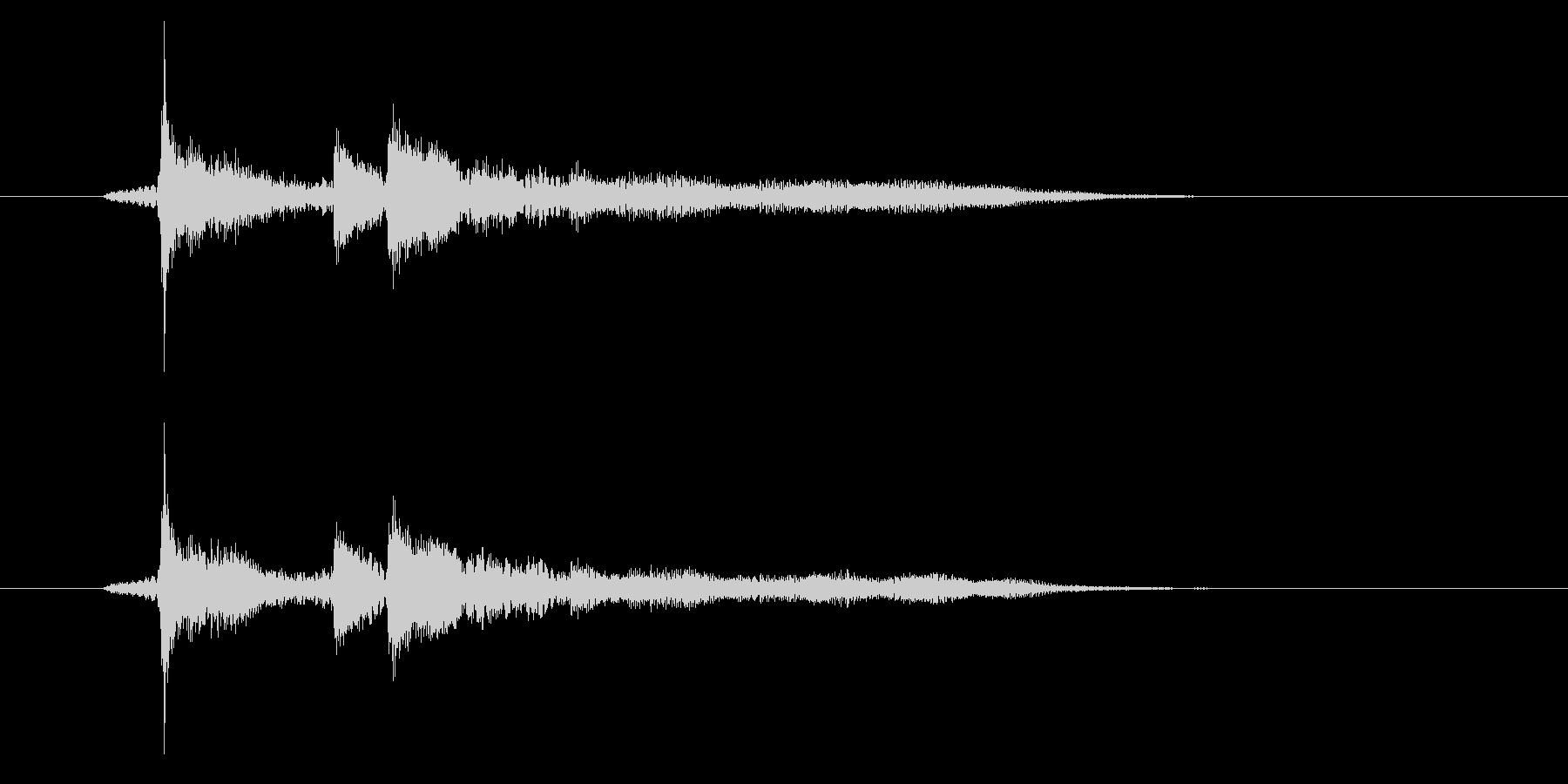 ゲームオーバーの音の未再生の波形