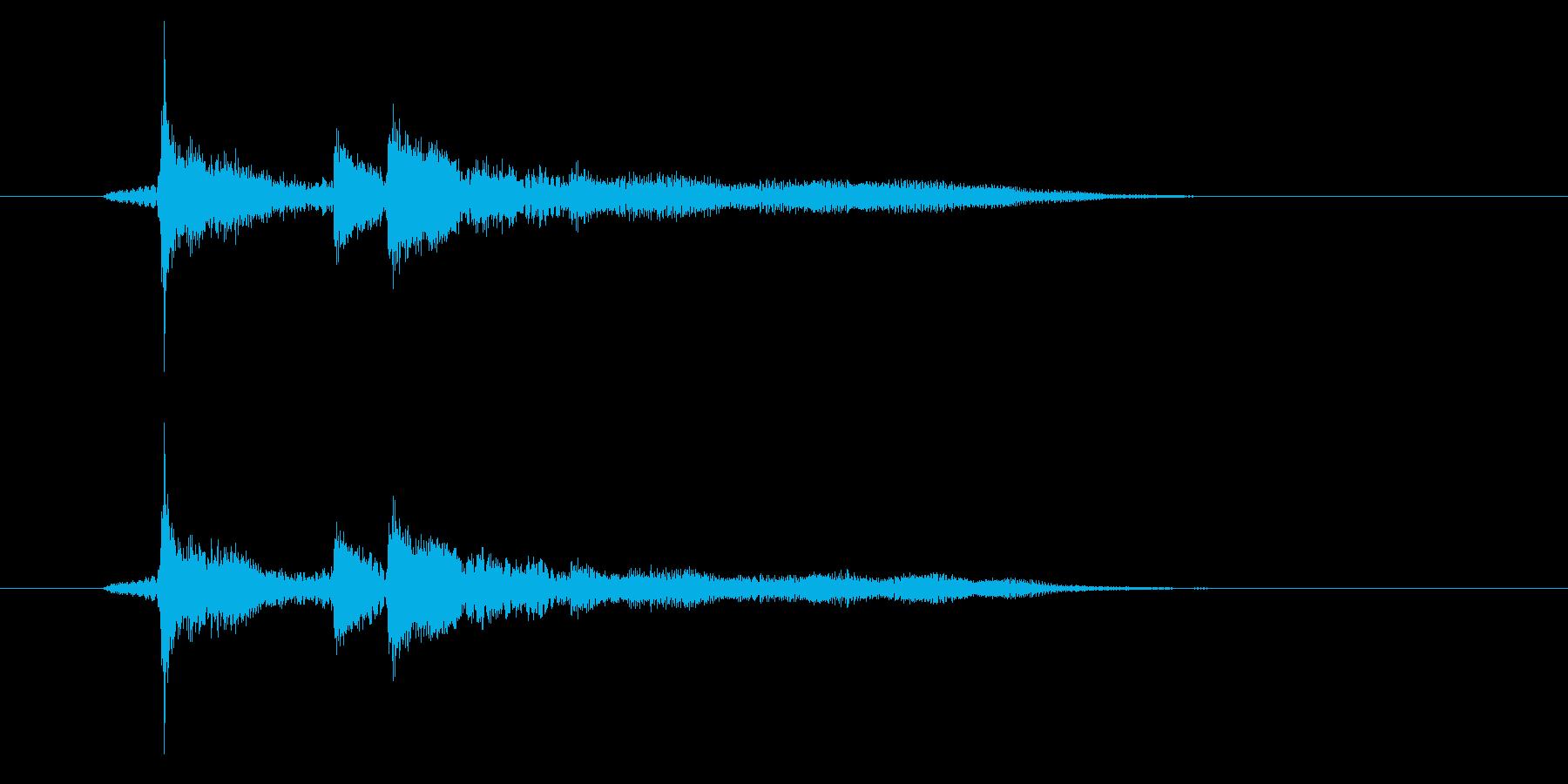 ゲームオーバーの音の再生済みの波形