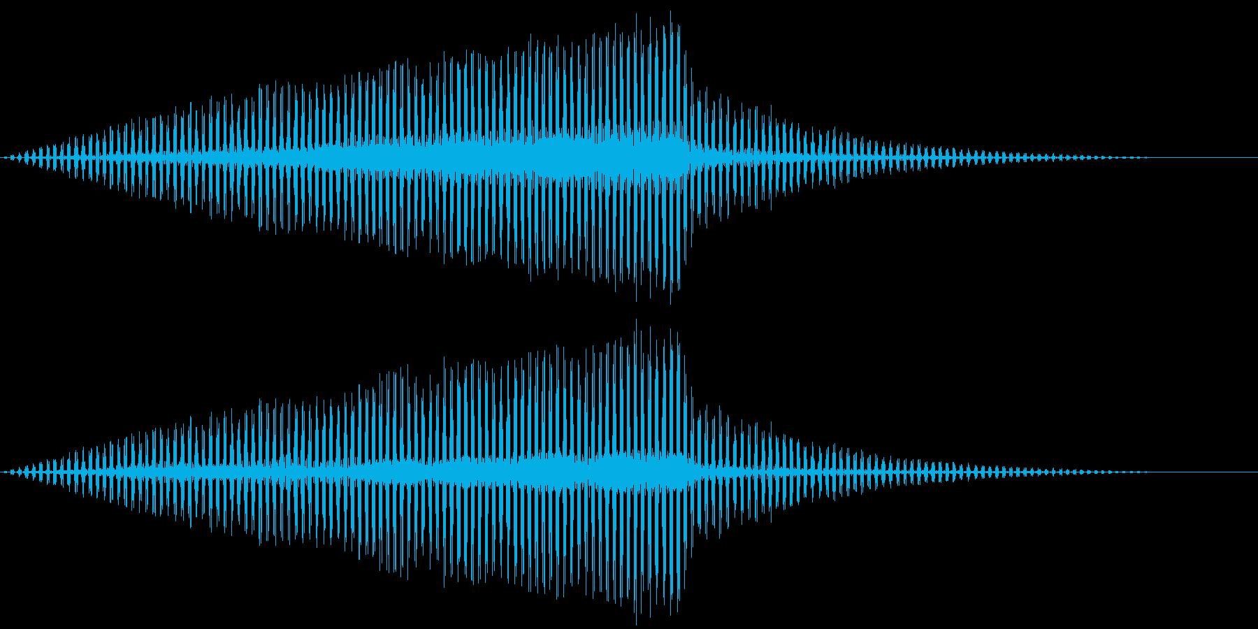 バタバタバタバタ、というヘリコプターの…の再生済みの波形