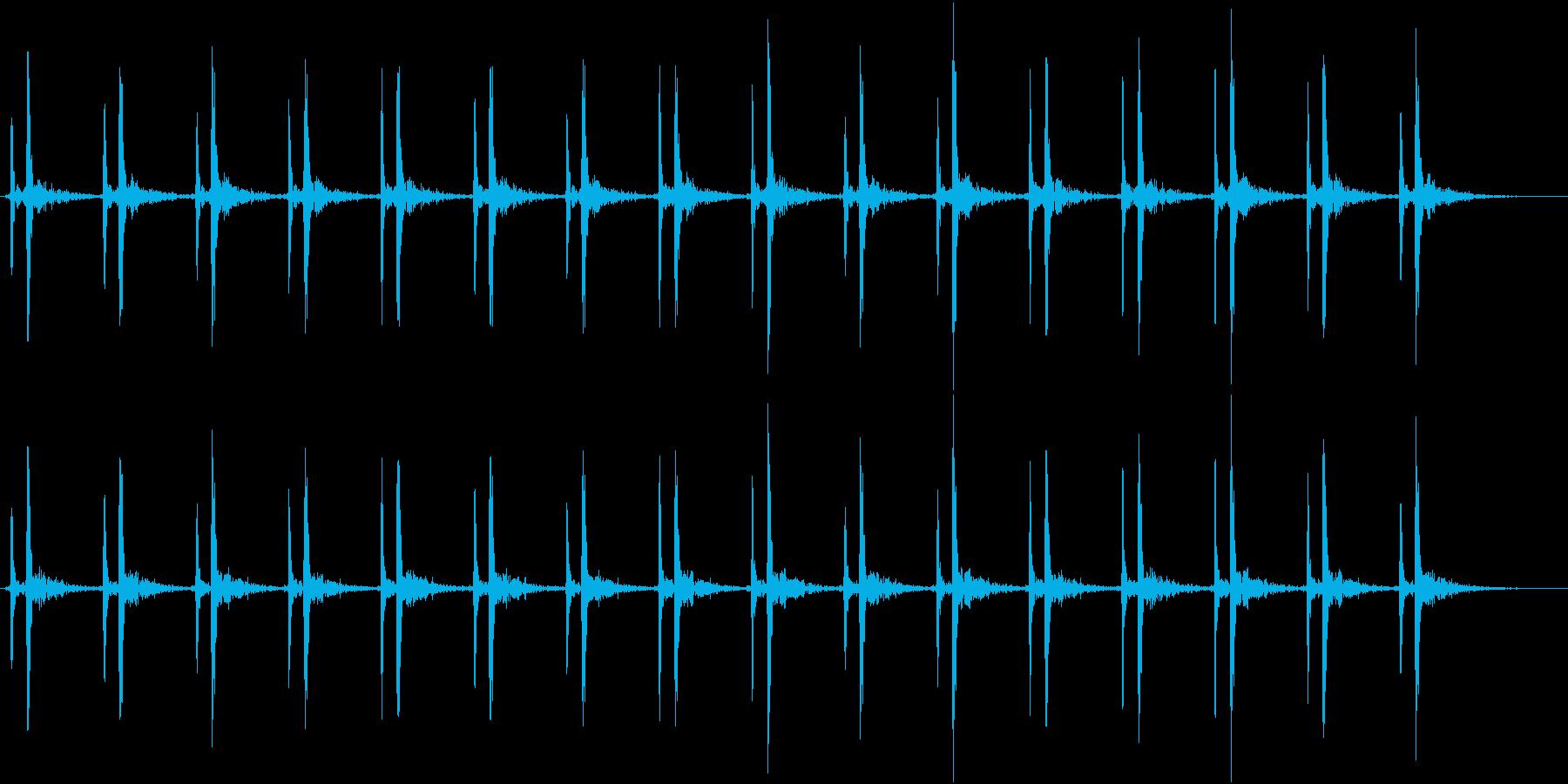 心臓の効果音(少し早め)の再生済みの波形