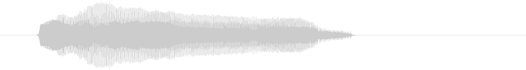 「ふぇーん」の未再生の波形