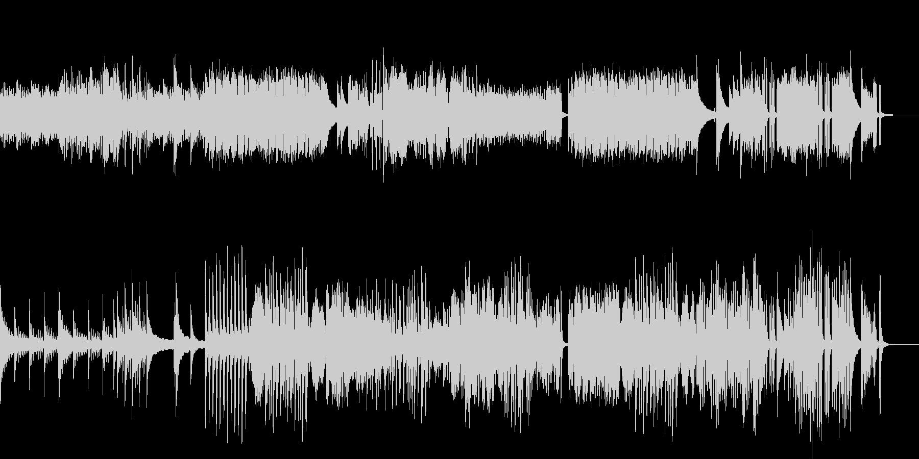 ピアノとハープシコードの駆け引きの未再生の波形