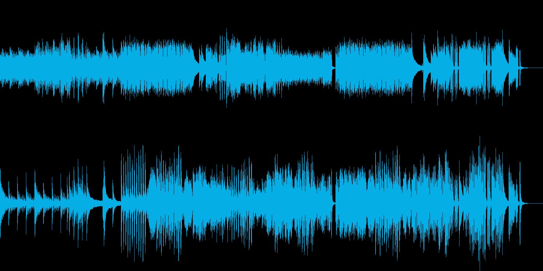 ピアノとハープシコードの駆け引きの再生済みの波形