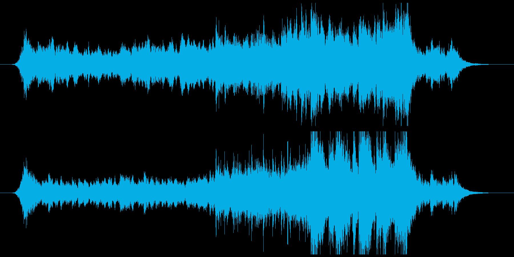 自然ドキュメンタリーBGMの再生済みの波形