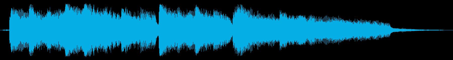 和風メロのピアノ曲の再生済みの波形