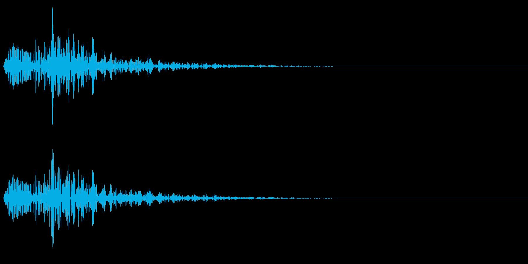 戻る/キャンセル/シンセサイザーの再生済みの波形