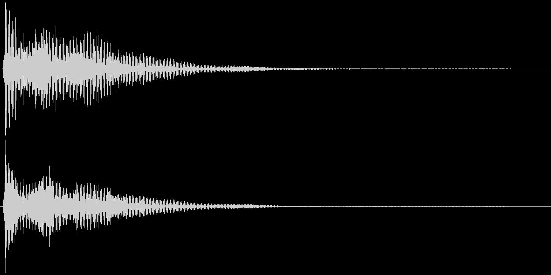 選択音、決定音など 宇宙風C ブオーンの未再生の波形