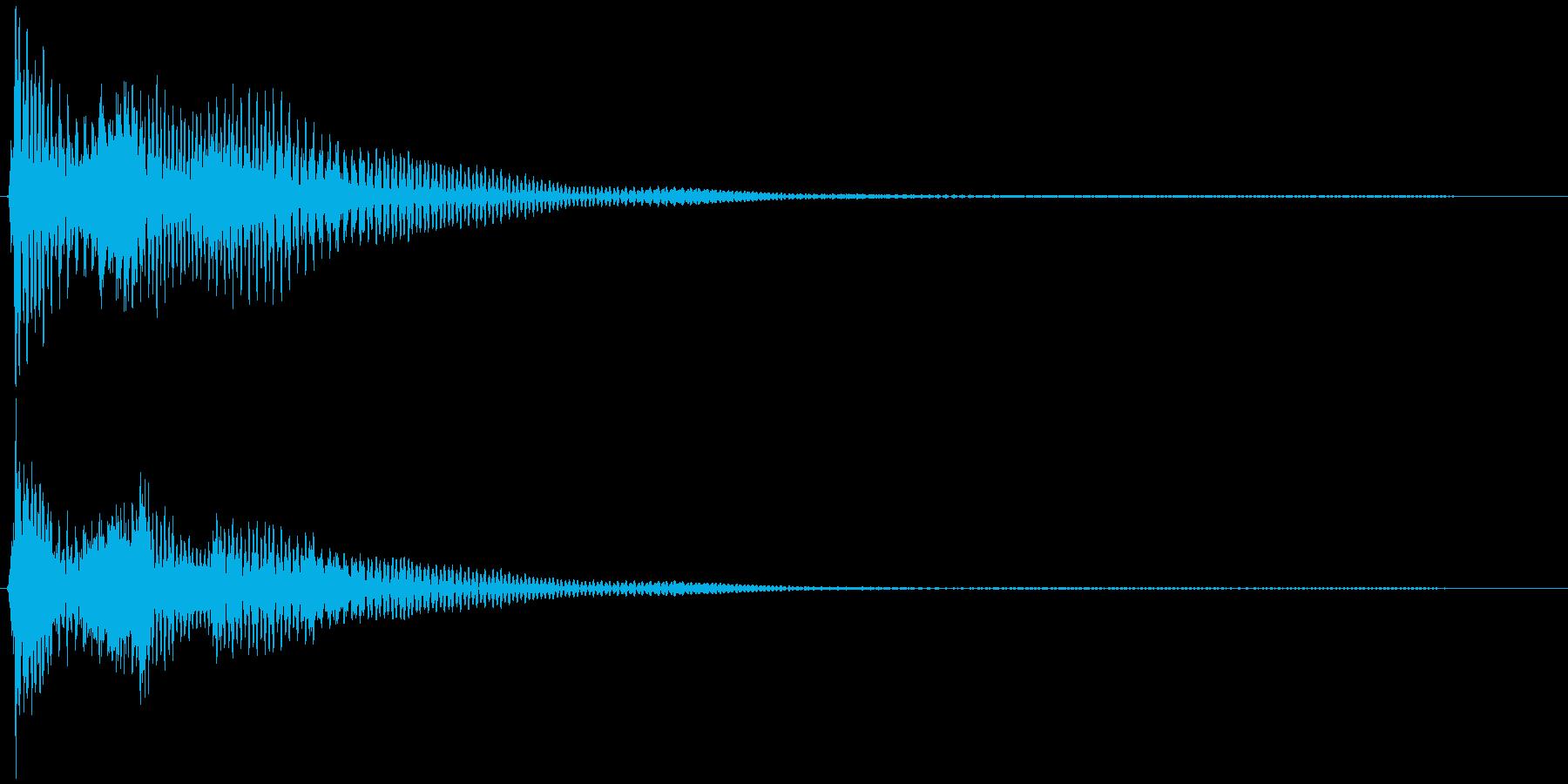 選択音、決定音など 宇宙風C ブオーンの再生済みの波形