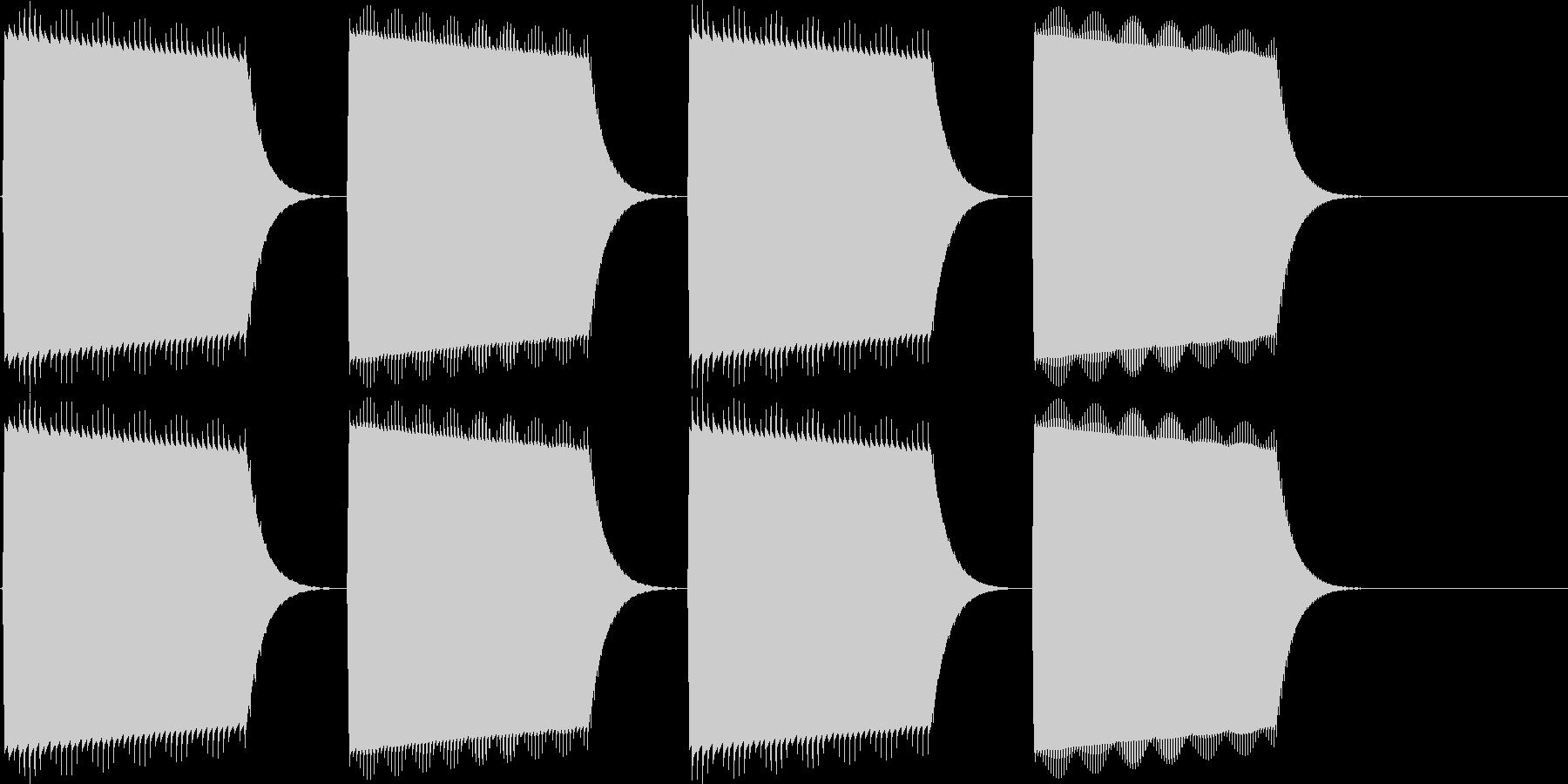 決定、表示(ピロリラ)の未再生の波形