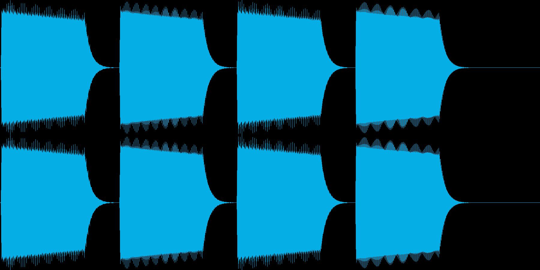 決定、表示(ピロリラ)の再生済みの波形