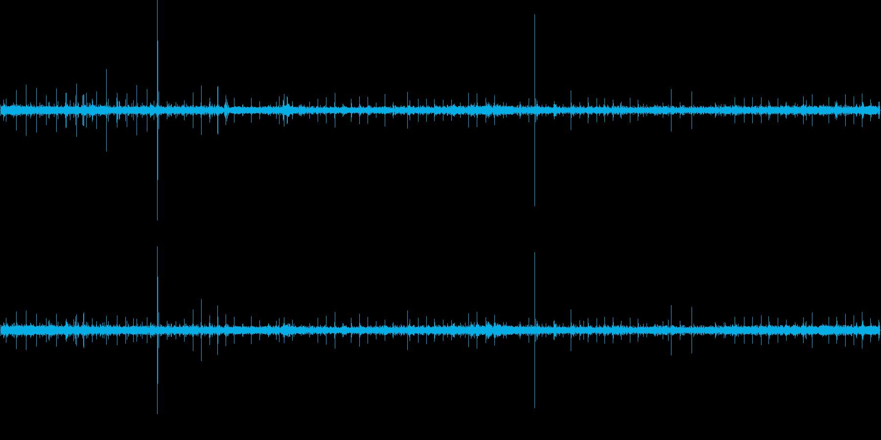 ぱらぱら・ケロケロ・ぴちゃぴちゃの再生済みの波形