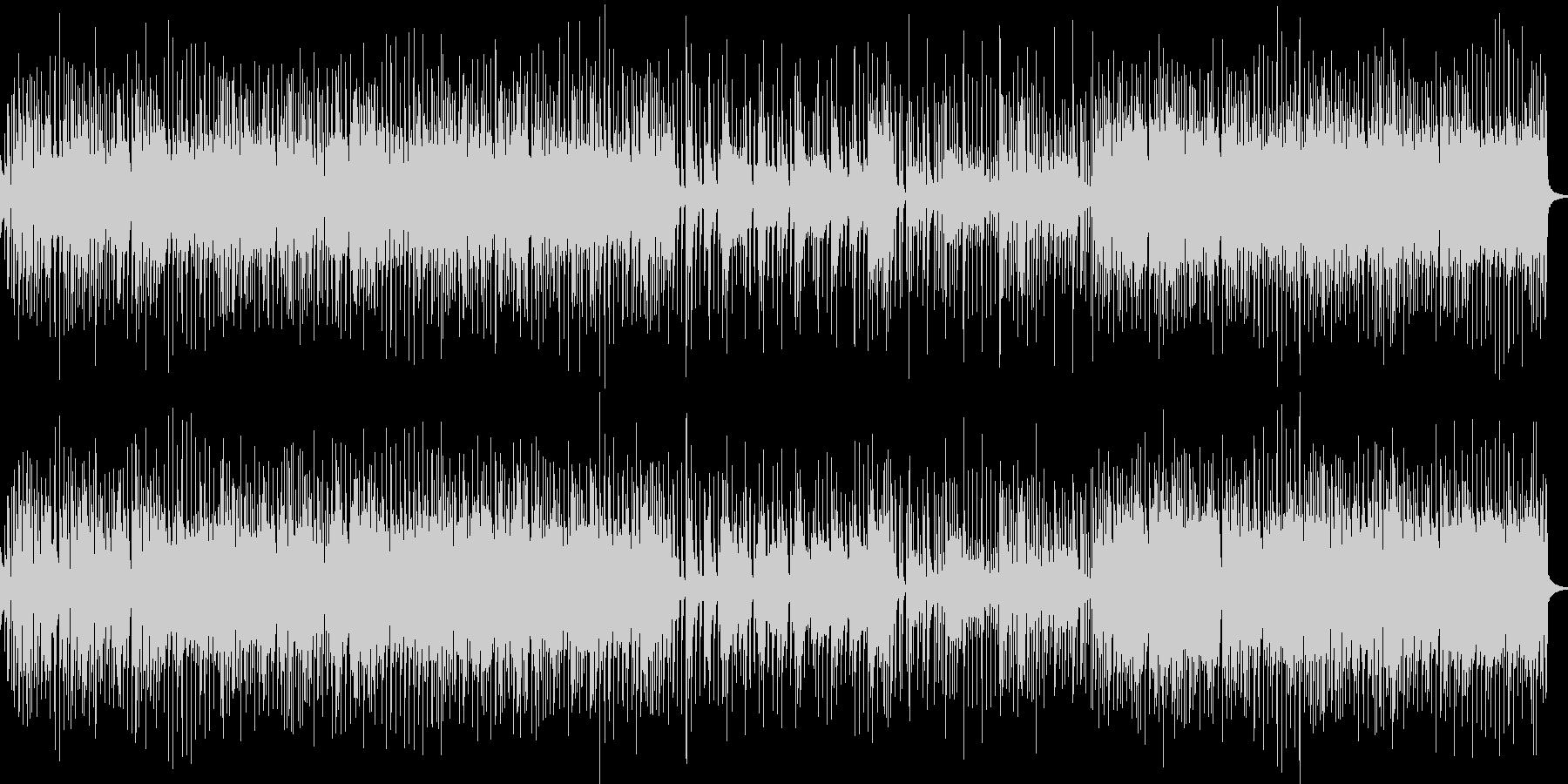 軽快なリズムのギターロックの未再生の波形