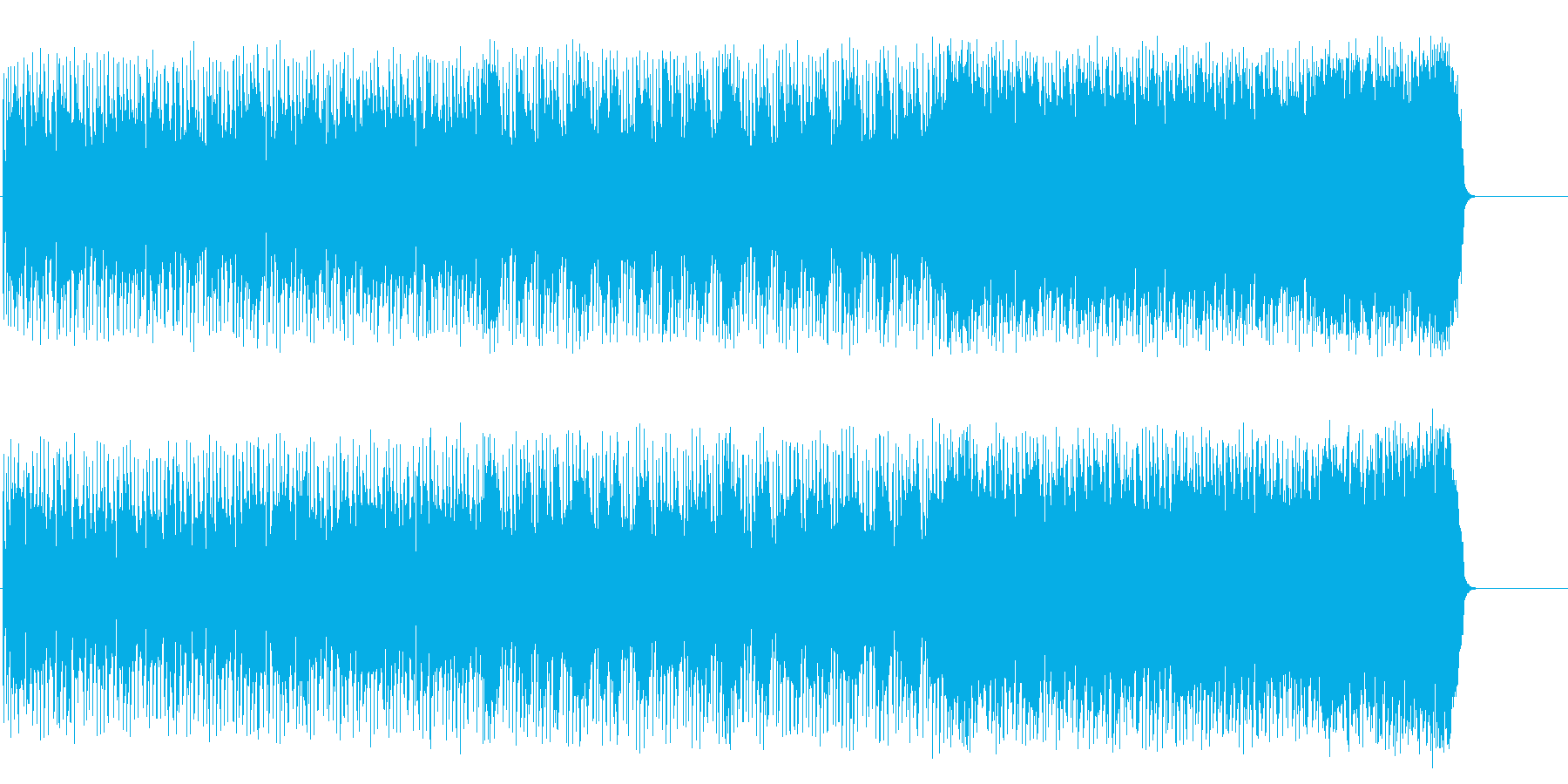 ファンキーで軽快なポップ/ロックの再生済みの波形