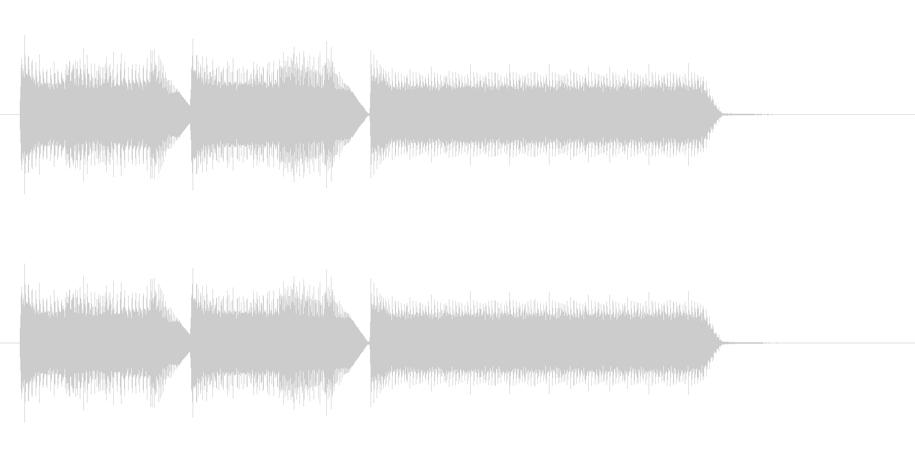 良いことが起きた時の効果音の未再生の波形