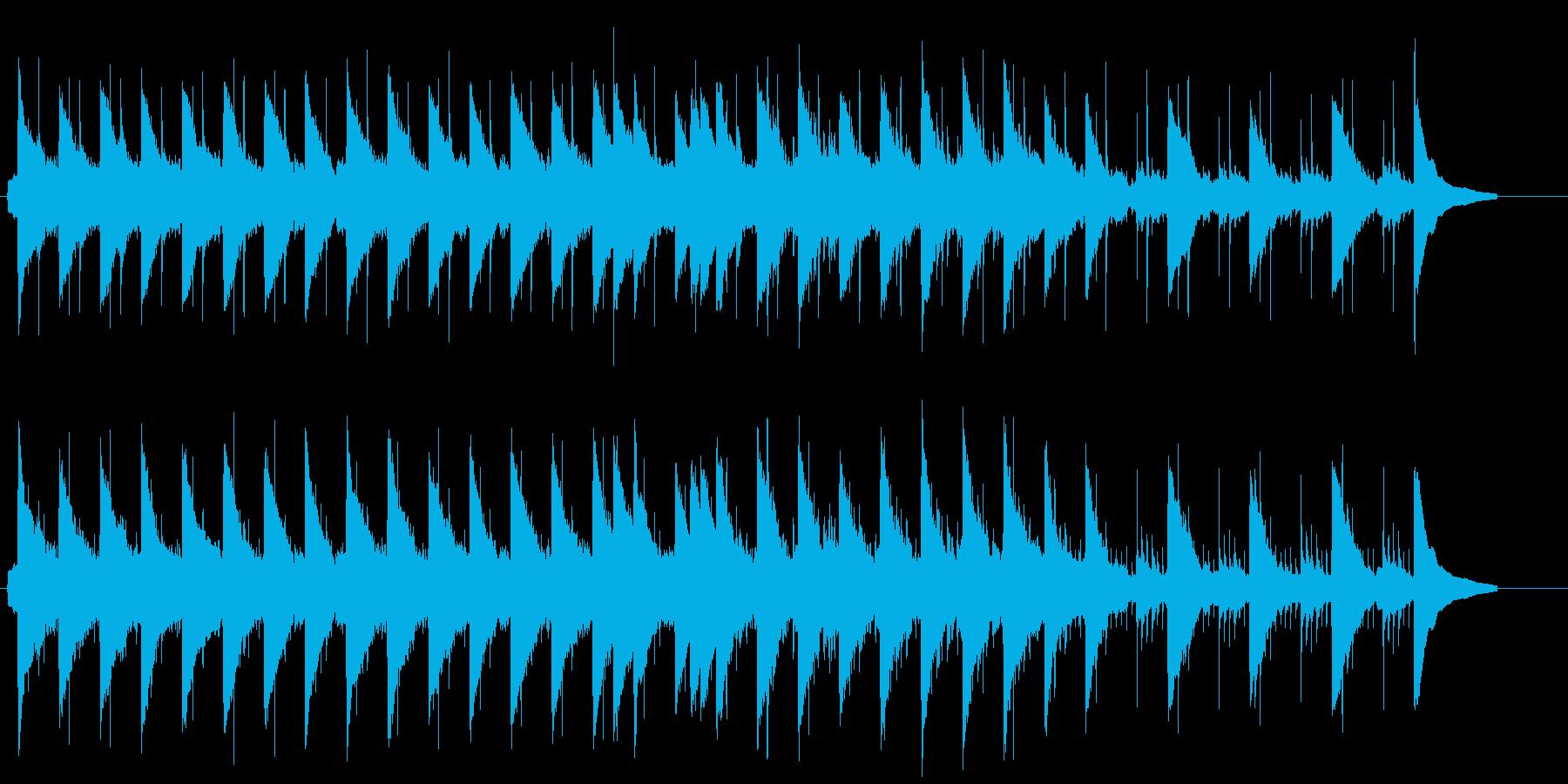 心が少し熱っぽくなるラヴソング風の再生済みの波形