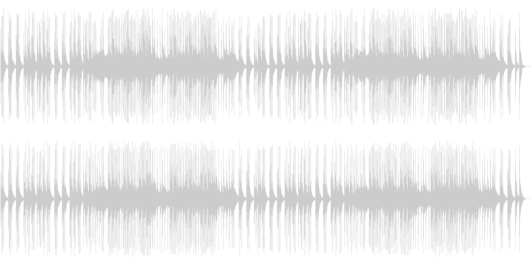 のんびり・のどかなクラシック風ポップスの未再生の波形