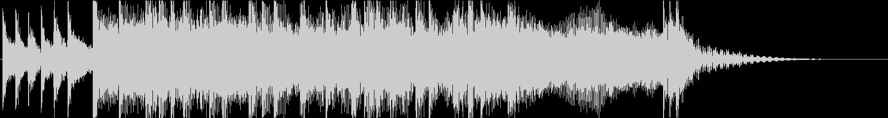 生演奏ギターのハードロックジングルの未再生の波形