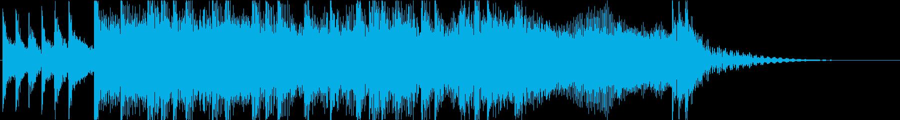 生演奏ギターのハードロックジングルの再生済みの波形