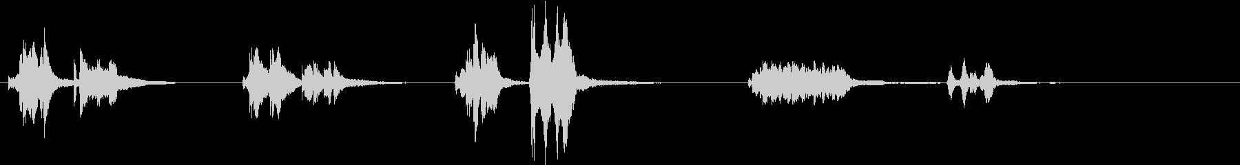 トムとジェリー風アニメ音楽「ウィンク」3の未再生の波形
