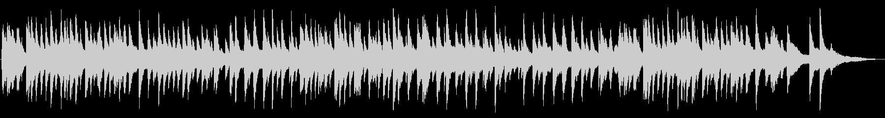 ジャズ風の明るいラウンジピアノの未再生の波形