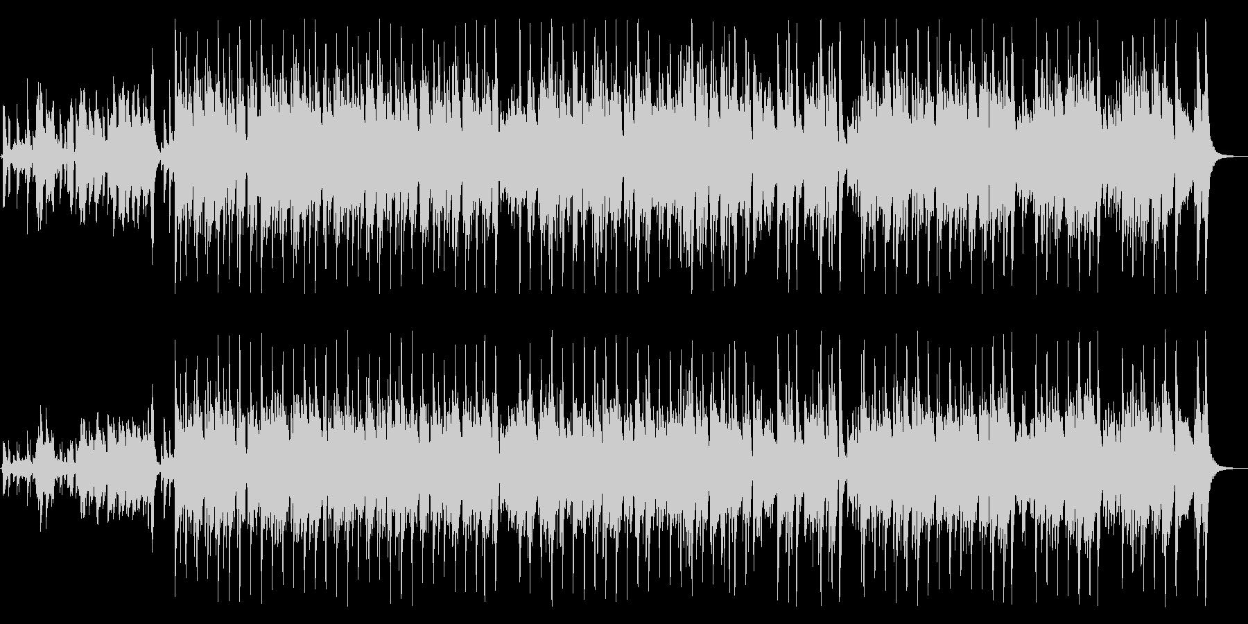 ピアノの軽快なリズムが魅力の曲の未再生の波形