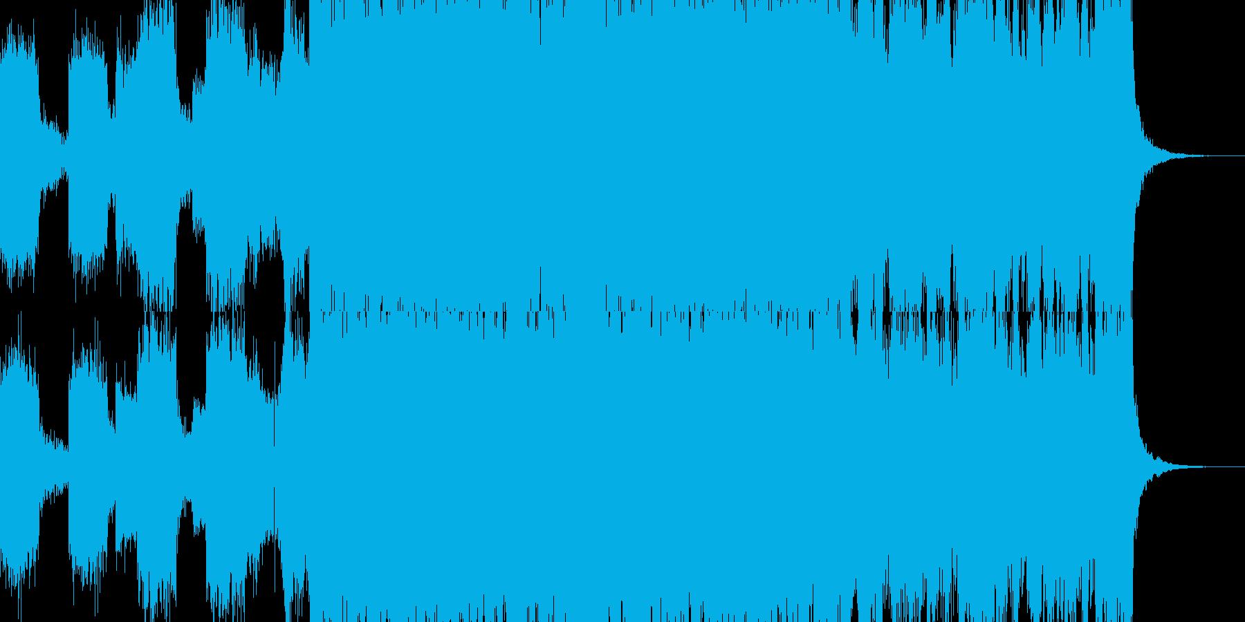 ギター ロック デジタルドラムの再生済みの波形