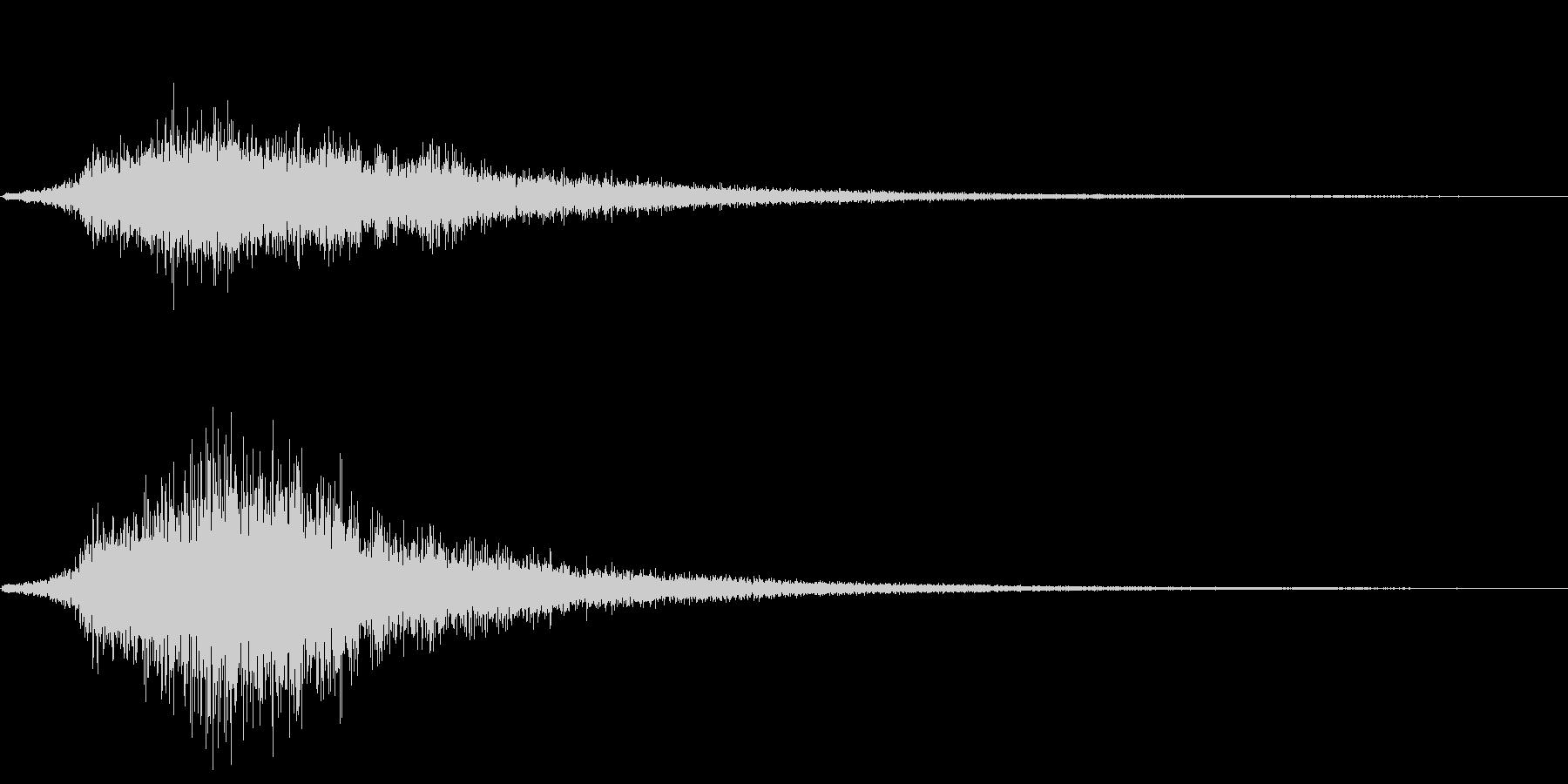 シュッ(場面転換)の未再生の波形