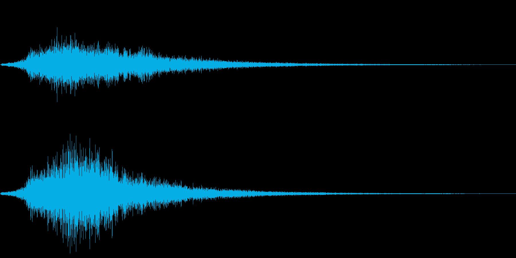 シュッ(場面転換)の再生済みの波形