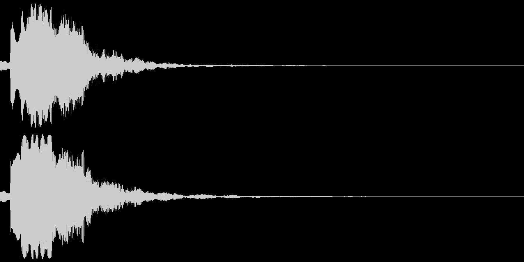 サウンドロゴ04(電子音)の未再生の波形