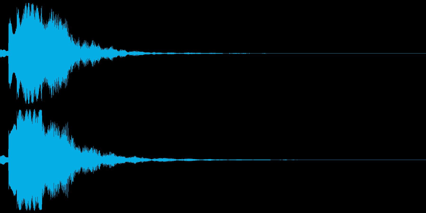 サウンドロゴ04(電子音)の再生済みの波形