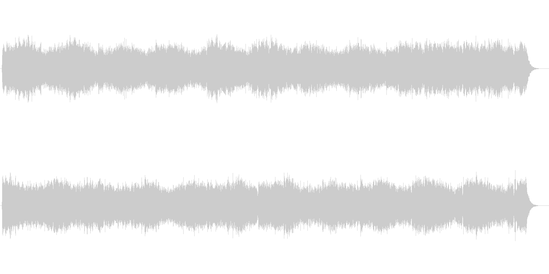 神秘的なピアノシンセの未再生の波形