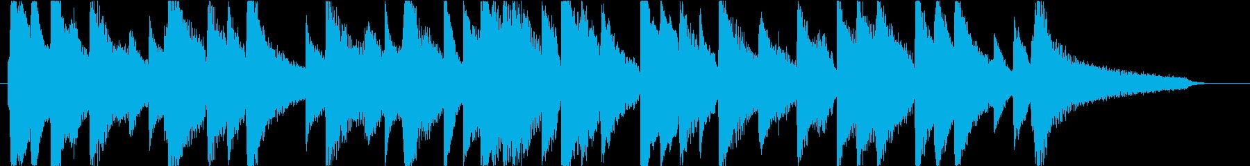 ピアノの安らげる楽曲。CM用30秒尺ですの再生済みの波形