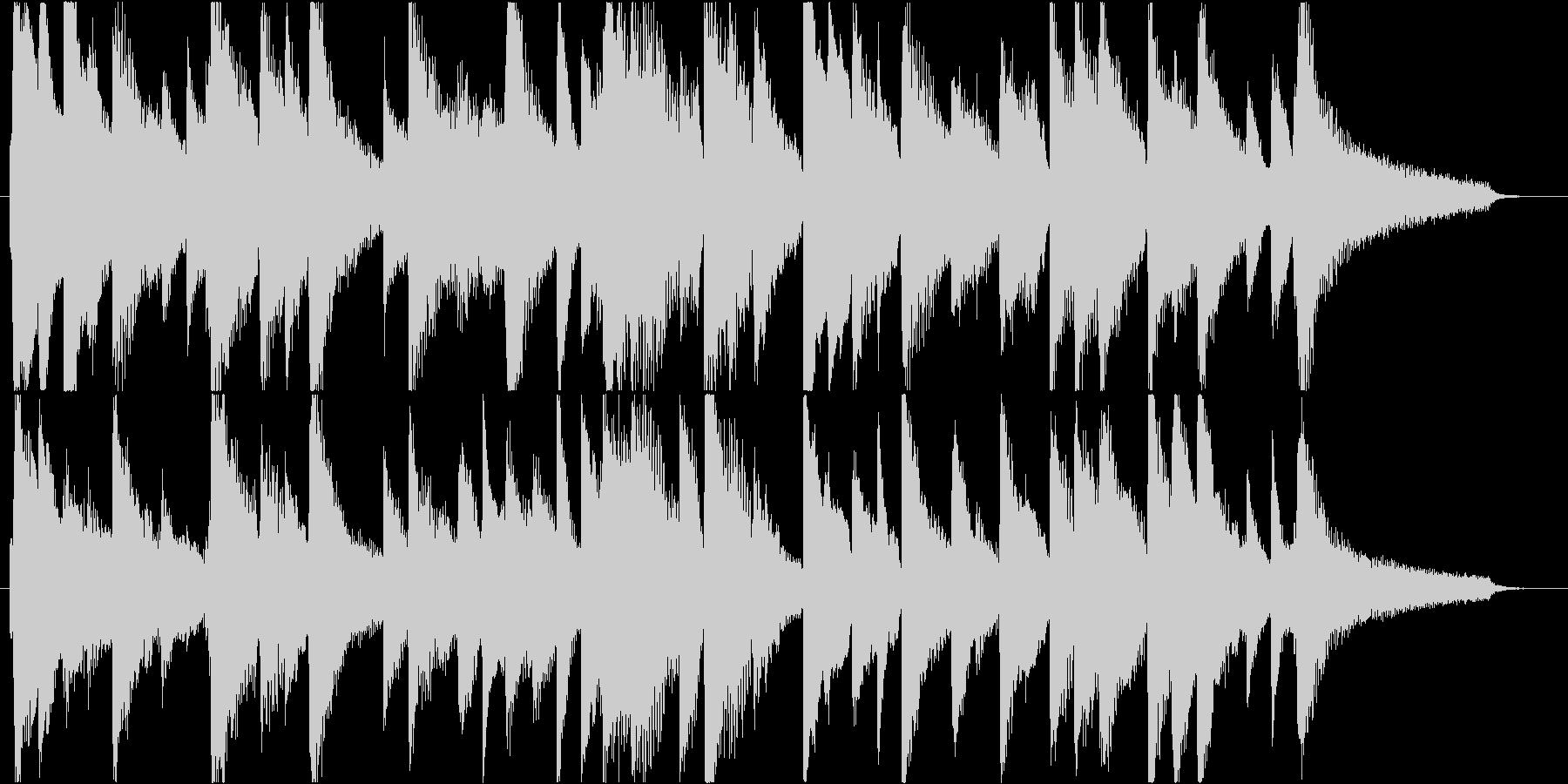 ピアノの安らげる楽曲。CM用30秒尺ですの未再生の波形